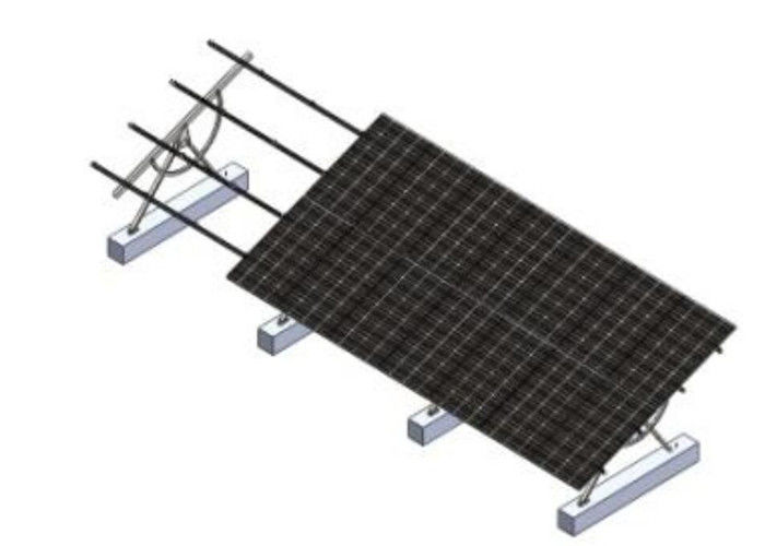Photovoltaic Fixing Bracket Solar Mounting System , Landscape Solar Panel Racking System