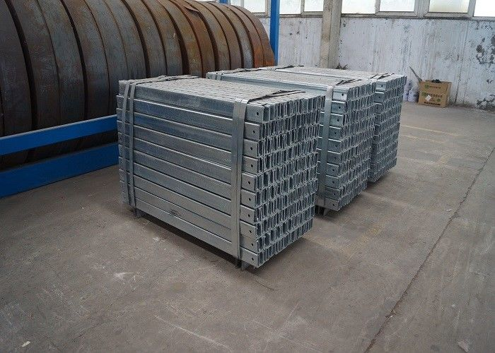 Cold Bending Galvanized C Section , Solar Energy Systems Steel Extrusion Profiles